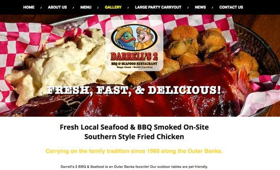 darrells 2 obx bbq and seafood restaurant