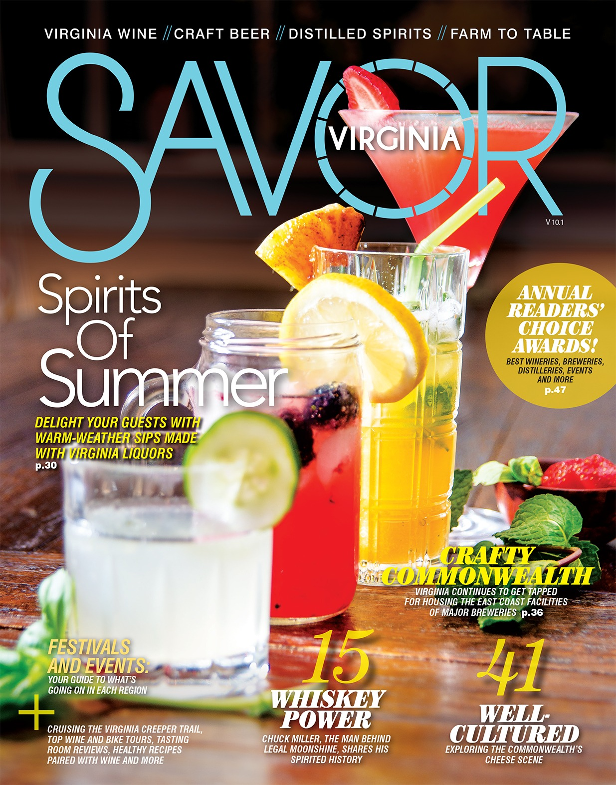 savor virginia magazine first cover