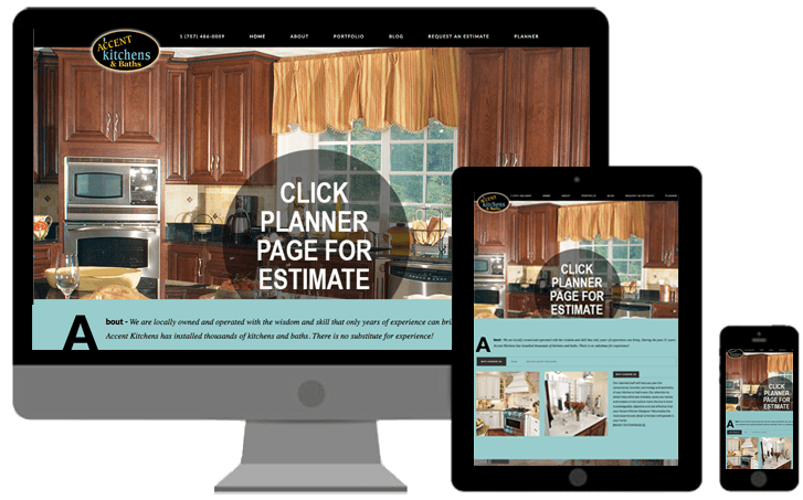 accent kitchens and baths responsive website