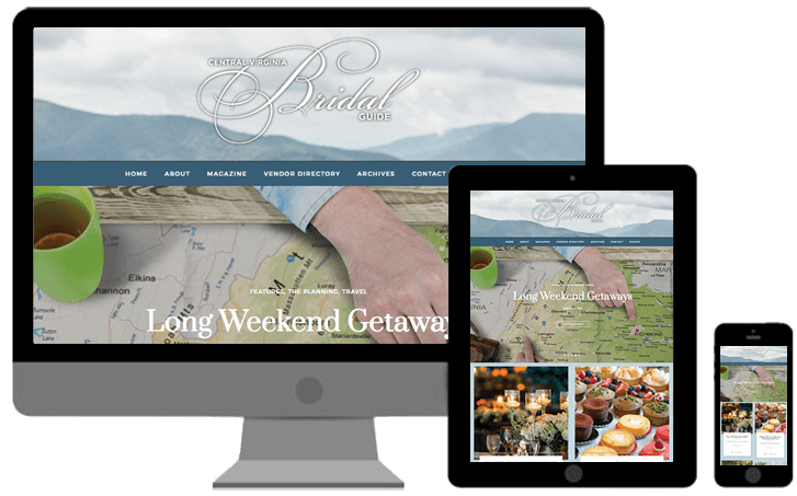 central virginia bridal guide website