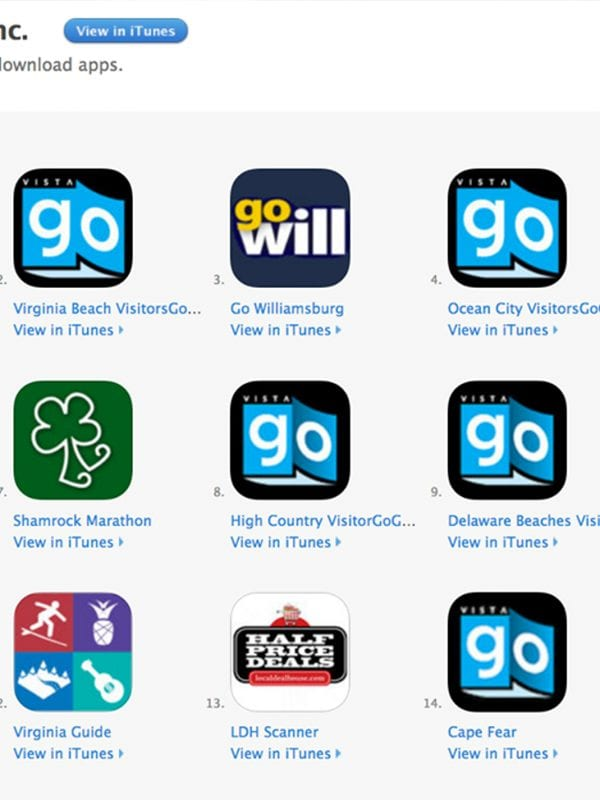 mobile applications, vistagraphics inc