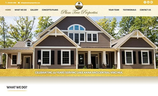 plumtree properties home builder lake anna va
