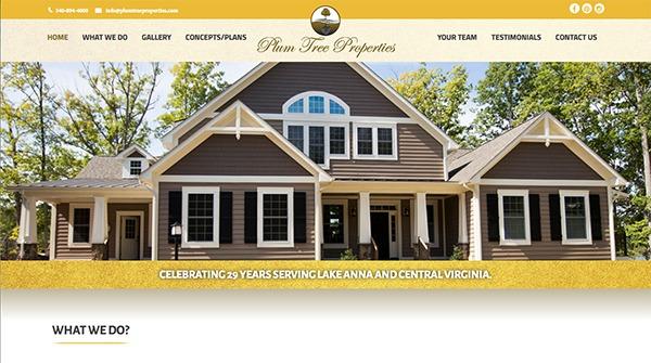plumtree properties home builder lake anna va
