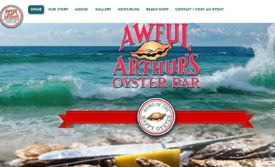 awful arthur's oyster bar website